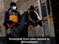 Viral Video: Amazon Delivery Man Arrives On Horseback In Snow-Covered Srinagar