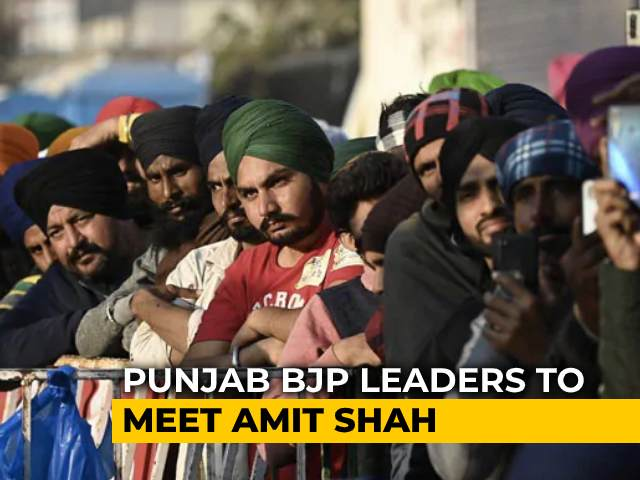 Video : Punjab BJP Leaders To Meet Amit Shah Ahead Of Talks With Farmers Tomorrow
