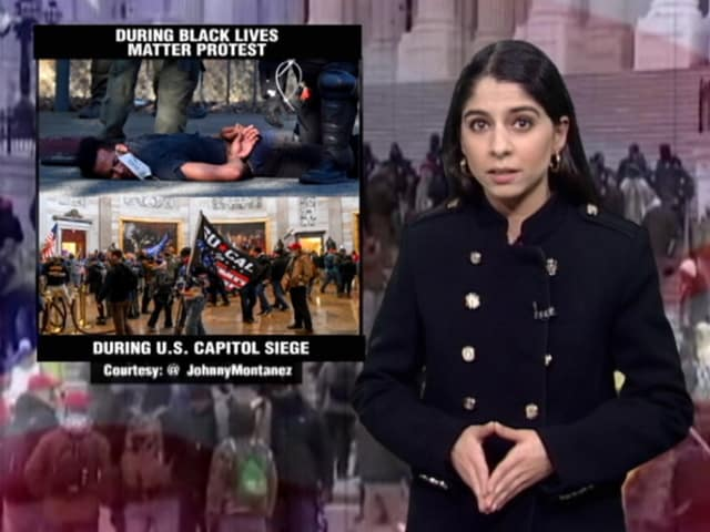 Video : Stark Contrast In Police Response To Capitol Riot Vs Black Lives Matter