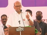 "Video : ""Governor Has Time To Meet Kangana Ranaut, But Not Farmers"": Sharad Pawar"