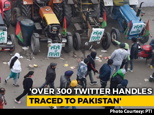 Video : 300 Pak Twitter Handles Created To Disrupt Farmers' Tractor Rally, Say Police