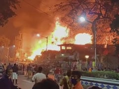 Massive Fire At Kolkata's Baghbazar, 25 Fire Engines At The Spot