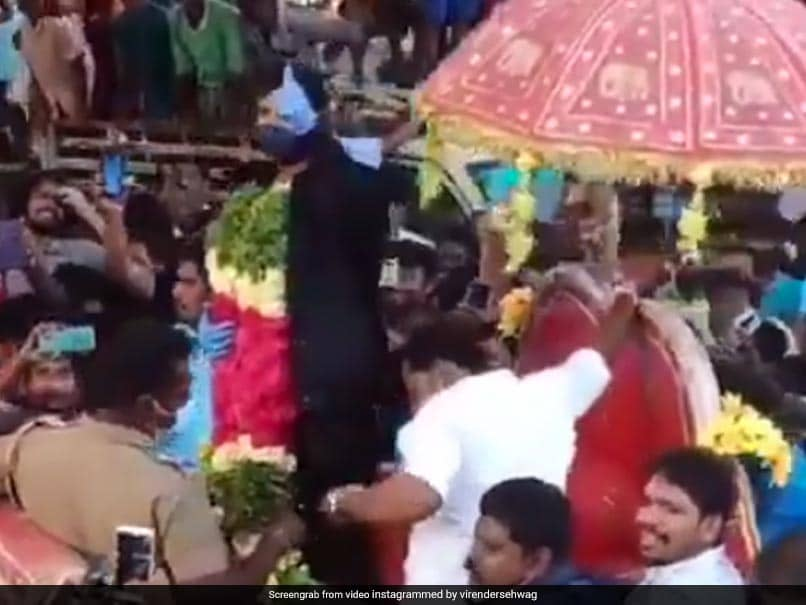 T.Natarajan Village gand welcome of his hero faded all Indian stars reception, VIDEO