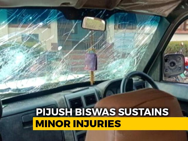Video : Tripura Congress Chief's Car Attacked, Allegedly By BJP Supporters