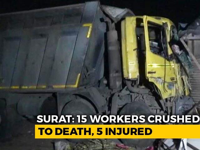 Video : 15 Sleeping Labourers Crushed Under Truck In Gujarat, PM Condoles Deaths
