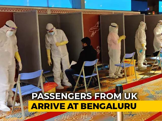 Video : Queues, Covid Tests, Hand Stamps For UK Flyers At Bengaluru Airport