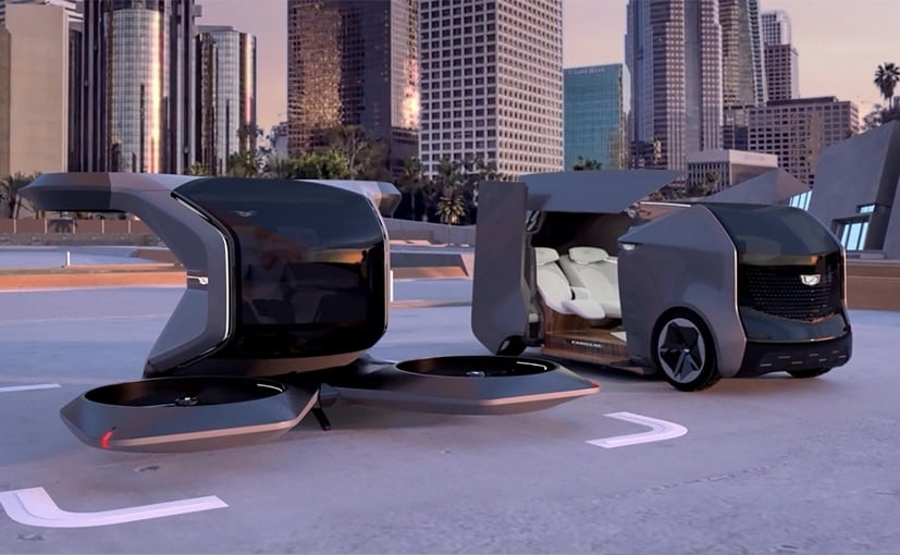 The flying Cadillac presented by GM is fully autonomous and all-electric, with a 90kW motor