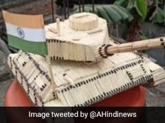 Army Day 2021: कलाकार ने 2,256 माचिस की तीलियों से बनाया भारतीय सेना का टैंक, देखें Photos