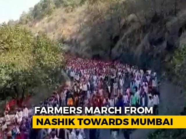 Video : Thousands March To Mumbai To Protest Farm Laws, Sharad Pawar To Join