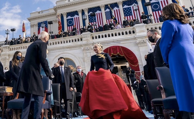 Lady Gaga stuns in custom couture for Biden-Harris inauguration
