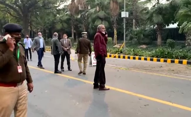 A minor blast took place on Friday evening at the exterior of the Israeli embassy in central Delhi