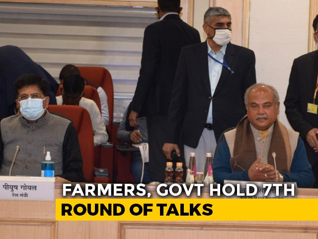 Video : Centre-Farmer Meet Starts With 2-Minute Silence For Protesters Who Died