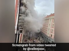 Strong Explosion Rocks Building In Central Madrid