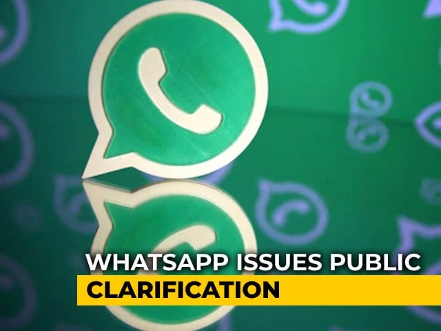 "Video : ""We Want To Address Some Rumours"": WhatsApp Updates On Privacy Policy Row"