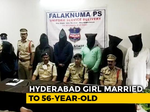 Video : Hyderabad Girl Forcibly Married To 56-Year-Old Man Rescued By Police
