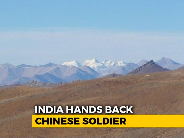 Video : Chinese Soldier Held On Indian Side In Ladakh Handed Back