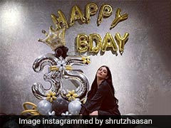 Shruti Haasan Rings In 35th Birthday With Two 'Smashing' Chocolate Cakes (See Pics)