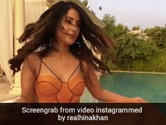 Hina Khan ने मस्टर्ड कलर ड्रेस में पूल किनारे दिखाई अदाएं, कभी डांस तो कभी वॉक करती आईं नजर- देखें Video