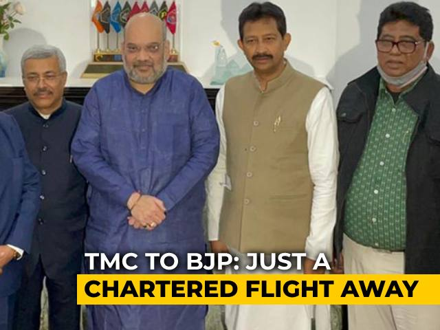 Video : 5 Ex-Trinamool Leaders Meet Amit Shah, Join BJP Ahead Of Bengal Polls
