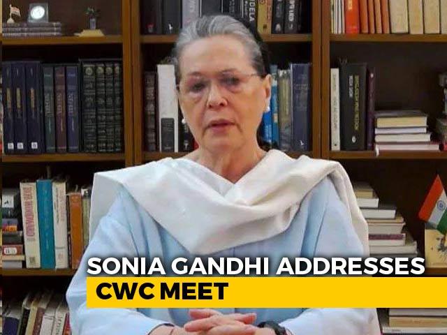 "Video : Sonia Gandhi Slams Centre's ""Shocking Insensitivity And Arrogance"" Towards Farmers"