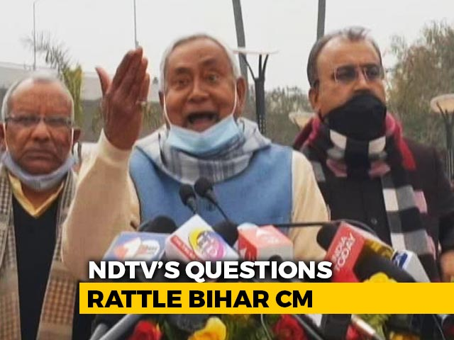 "Video : ""Who Are You Supporting?"" Nitish Kumar's Outburst At NDTV Reporter"