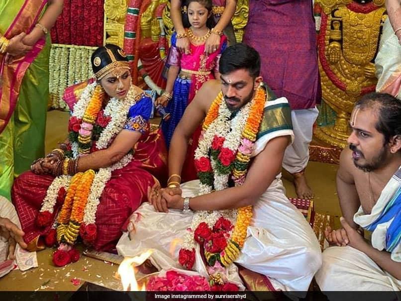 Vijay Shankar Marries Vaishali Visweswaran, SunRisers Hyderabad Send Best Wishes