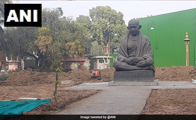 Mahatma Gandhi's Statue At Parliament Moved To Make Way For Construction