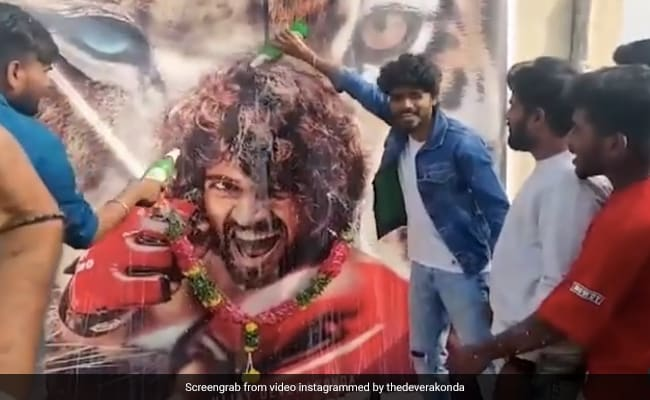 Vijay Deverakonda's Liger First Look Welcomed With Milk Showers: 'Scenes Of Celebrations Moved Me'