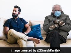 """Look Who Finally Dropped In"": Dinesh Karthik Joins Bernie Sanders Meme Fest"
