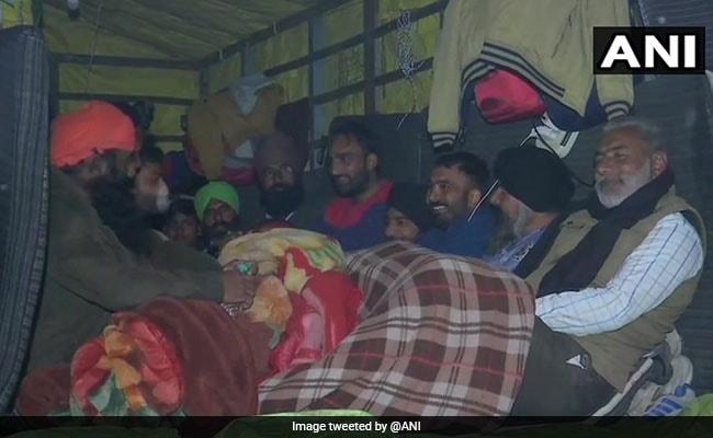 Farmers Continue Protest At Delhi Borders Amid Heavy Rain, Cold