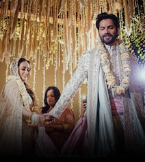 Varun And Natasha Are Married. First Pic Of Pheras From Alibaug Wedding