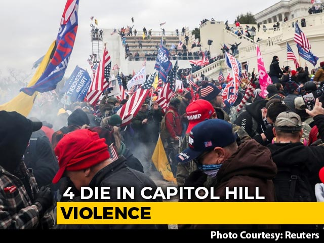 Video : Trump Accused Of 'Coup' As Mob Storms US Capitol, 4 Dead In Violence
