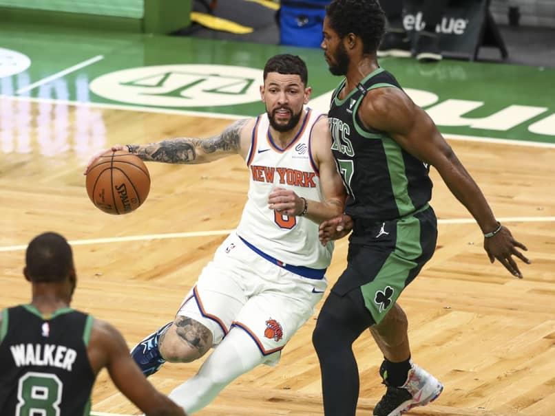 New York Knicks Thump Boston Celtics In Kemba Walkers NBA Return