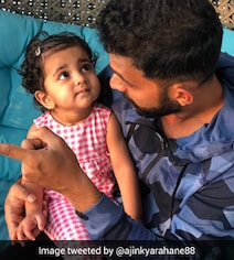 Rahane's Picture With Daughter Is The Cutest Thing On The Internet