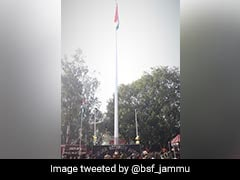 BSF Unfurls Tallest 131-Feet-High Flag Along Indo-Pak Border In Jammu