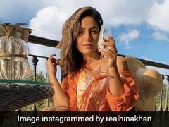 Hina Khan खास अंदाज में एन्जॉय कर रही हैं संडे, ओरेंज कलर की आउटफिट में शेयर की फोटो