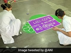 Coronavirus Vaccine: Special Rangoli At Pune Hospital To Welcome People
