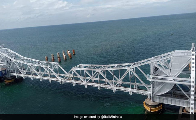 Tamil Nadu's Pamban Bridge Gets A Paint Job. See Stunning Photos