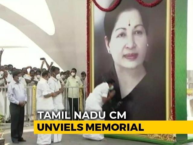 Video : Jayalalithaa's Memorial Unveiled In Tamil Nadu Amid Sasikala's Release