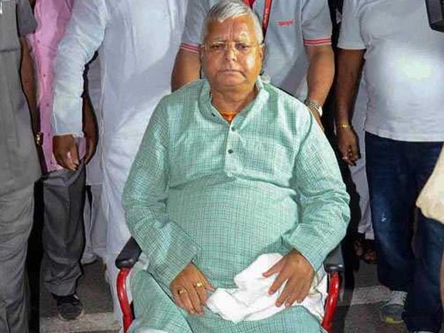 Video : Lalu Yadav Admitted To Delhi's AIIMS