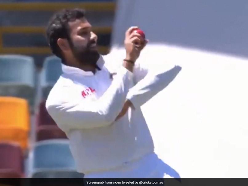 Australia vs India, 4th Test: Rohit Sharma Bowls Medium Pace After Navdeep Saini Leaves Field Injured. Watch
