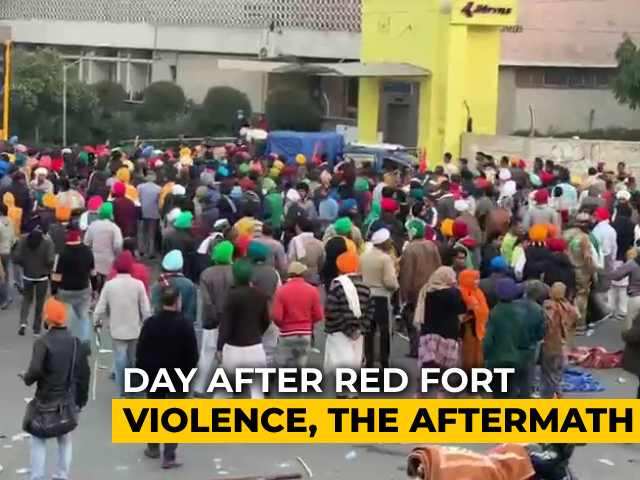 Video : Day After Red Fort Violence, The Aftermath