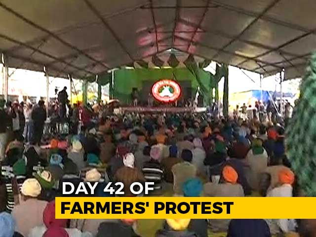 Video : Waterproof Tents Set Up, Rain Fails To Deter Spirit Of Protesting Farmers