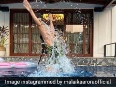 Malaika Arora स्विमिंग पूल में पोज देती आईं नजर, Photo की शेयर