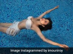In A Gorgeous White Bikini, Mouni Roy Floats Away Like A Mermaid