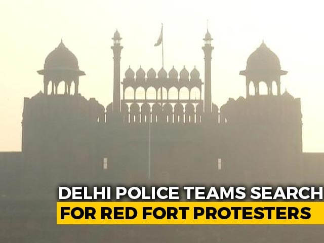 Video : Delhi Police Teams Scan Footage Of Violence At Red Fort