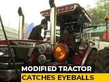 Video : Modified Tractor Worth Rs 40 Lakh Grabs Eyeballs At Tikri Border