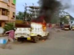 Clash At BJP Party Offices In Bengal, Vehicles Set On Fire