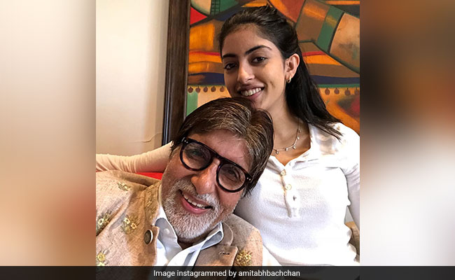 Navya Naveli's Thoughts On Granddad Amitabh Bachchan's 'New Acquisition' - A Face Mask