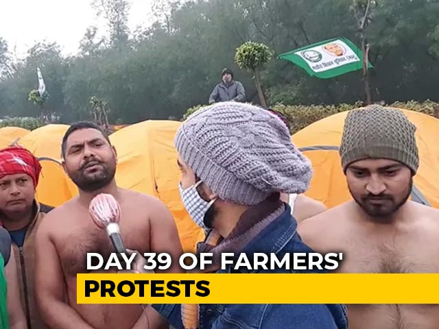 Video : As Freezing Delhi Goes Under The Covers, Defiant Farmers Take Off Shirts